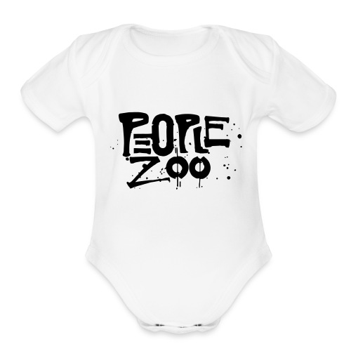 People Zoo Design 1 - Organic Short Sleeve Baby Bodysuit