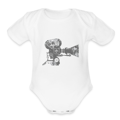 HNF_Camera - Organic Short Sleeve Baby Bodysuit