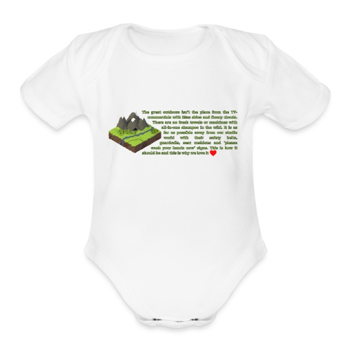 Loving Nature - Organic Short Sleeve Baby Bodysuit
