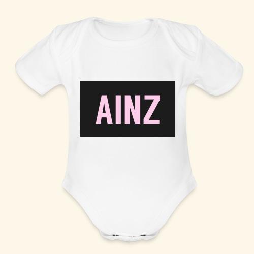 Ainz merch - Organic Short Sleeve Baby Bodysuit