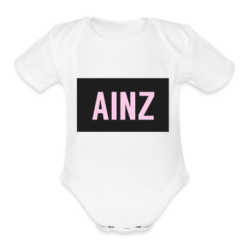 Ainz merch - Organic Short Sleeve Baby Bodysuit