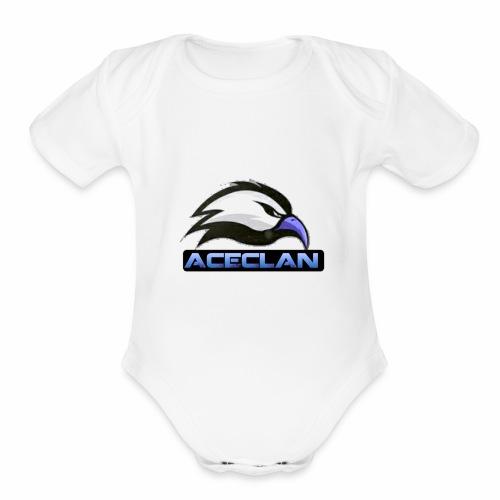 Eagle aceclan logo - Organic Short Sleeve Baby Bodysuit