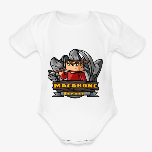 Macarone official - Organic Short Sleeve Baby Bodysuit