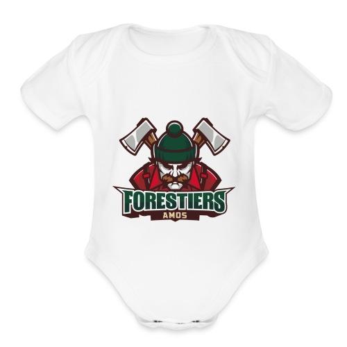 forestiers 1 1024x929 - Organic Short Sleeve Baby Bodysuit