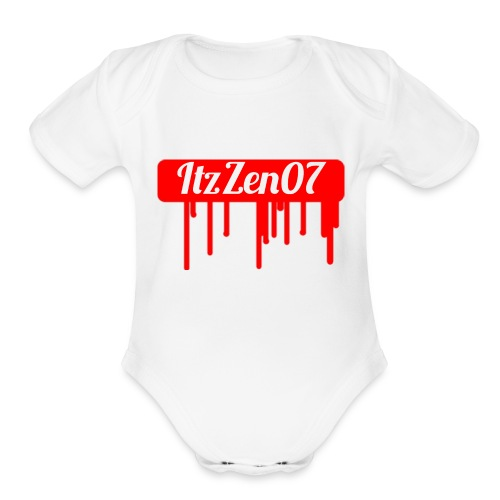 LIMITED TIME ItzZen07 Dripping Blood Halloween - Organic Short Sleeve Baby Bodysuit