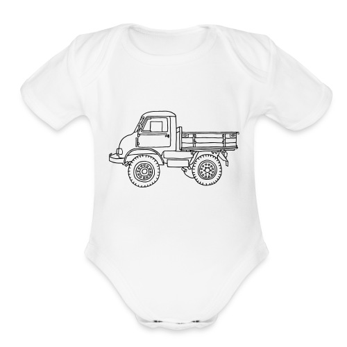 Off-road truck, transporter - Organic Short Sleeve Baby Bodysuit