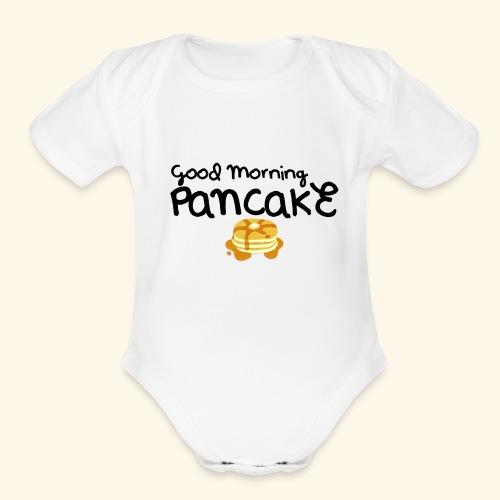 Good Morning Pancake Mug - Organic Short Sleeve Baby Bodysuit