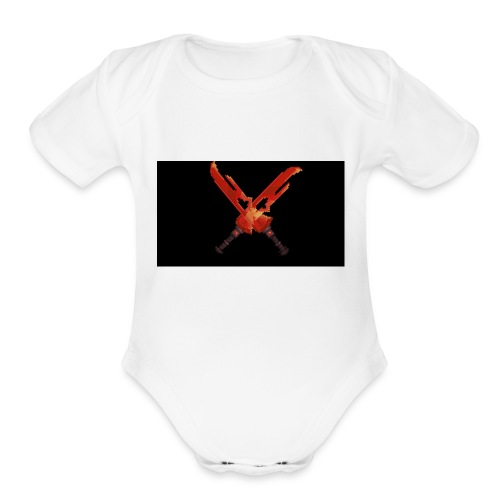 Hipixel Warlords Cross-Swords - Organic Short Sleeve Baby Bodysuit