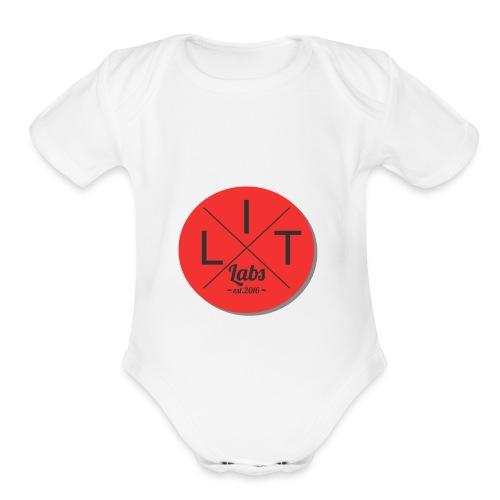 LIT LABS - Organic Short Sleeve Baby Bodysuit