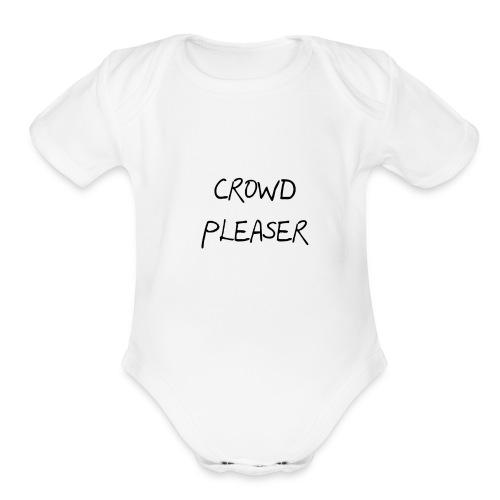 CROWDPLEASER - Organic Short Sleeve Baby Bodysuit