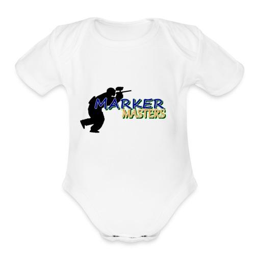 Marker Masters Logo - Organic Short Sleeve Baby Bodysuit