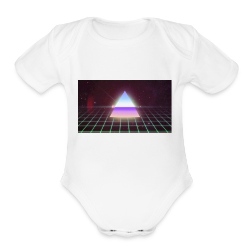 80s Retro - Organic Short Sleeve Baby Bodysuit