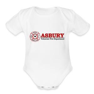 AsburyVFD Logo - Short Sleeve Baby Bodysuit