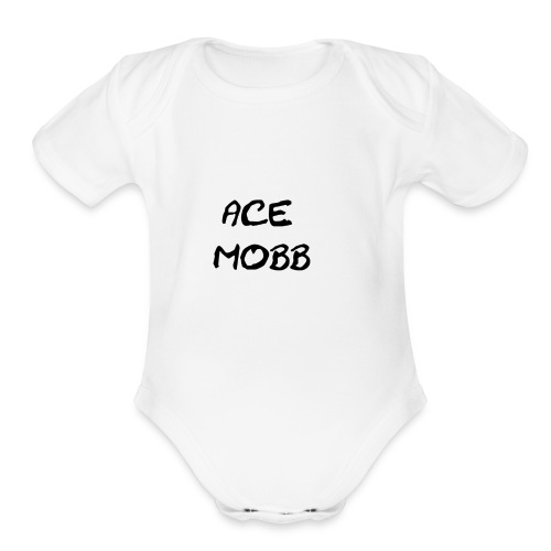 ace mobb logp - Organic Short Sleeve Baby Bodysuit