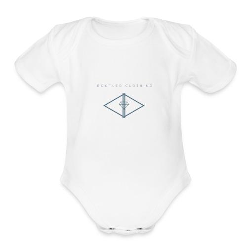 Bootleg Diamond Logo - Organic Short Sleeve Baby Bodysuit