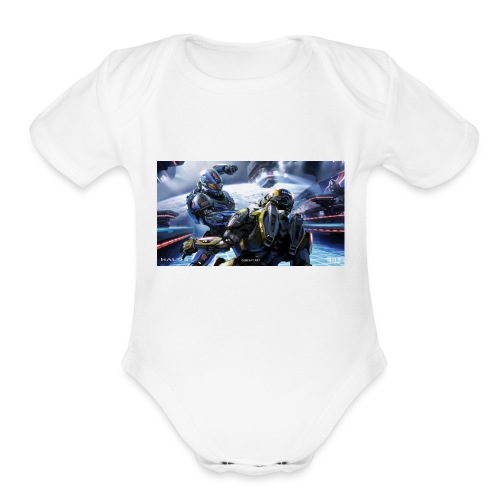 halo - Organic Short Sleeve Baby Bodysuit