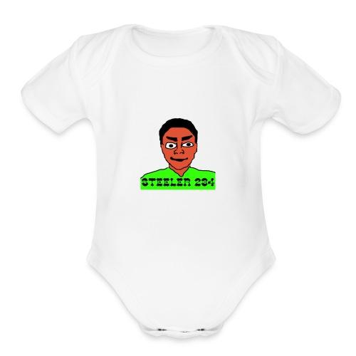 Steeler 234 Apparel - Organic Short Sleeve Baby Bodysuit