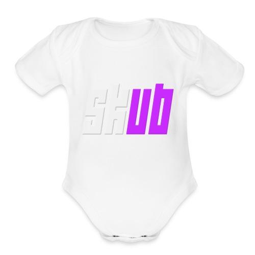 SKUB logo - Organic Short Sleeve Baby Bodysuit