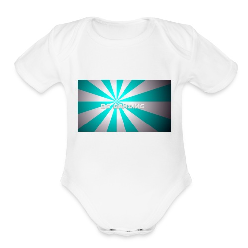 first design - Organic Short Sleeve Baby Bodysuit