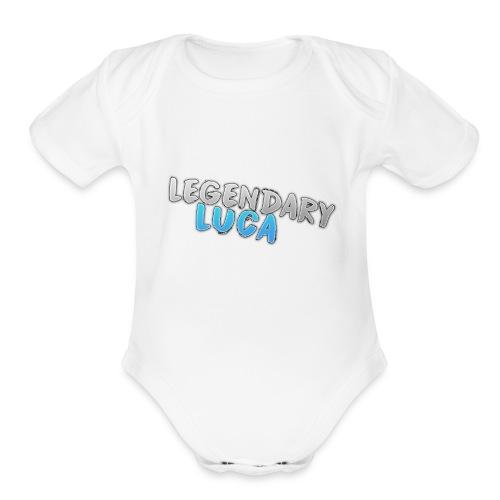 LegendaryLuca - Organic Short Sleeve Baby Bodysuit