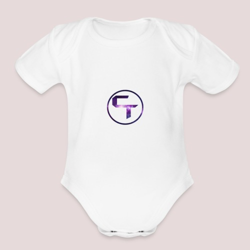 CamTremblay Official Logo - Organic Short Sleeve Baby Bodysuit