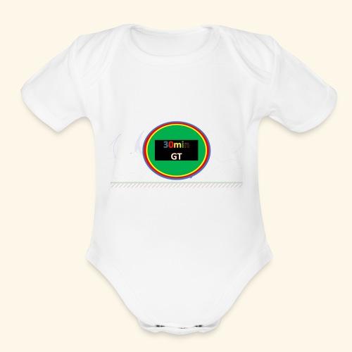 30Min Logo - Organic Short Sleeve Baby Bodysuit