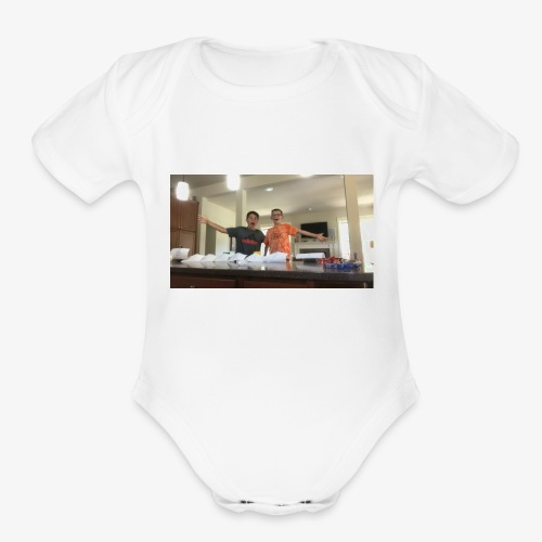 True bros - Organic Short Sleeve Baby Bodysuit