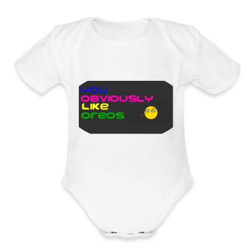 It's a wrong interpretation of Y-O-L-O - Organic Short Sleeve Baby Bodysuit