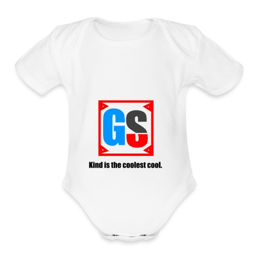 GS - Organic Short Sleeve Baby Bodysuit
