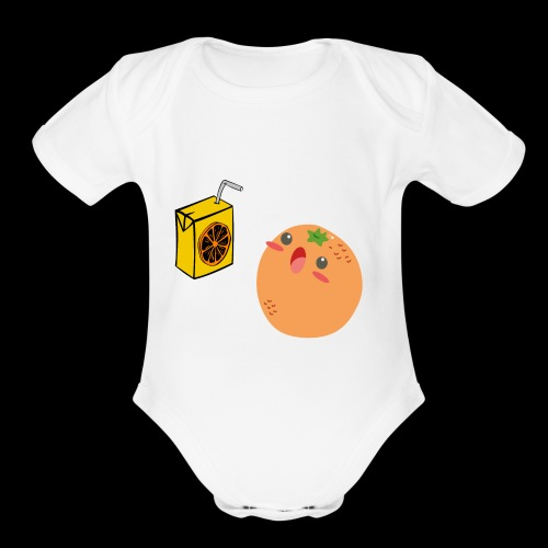 Oh orange you didn't - Organic Short Sleeve Baby Bodysuit