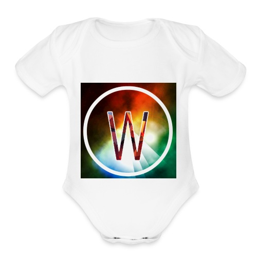 youtube logo - Organic Short Sleeve Baby Bodysuit