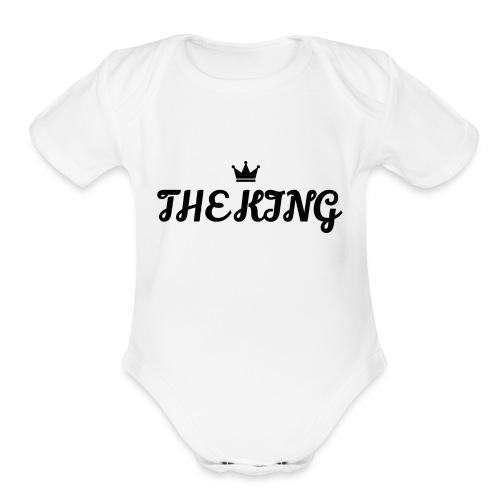 THE KING SHIRT - Organic Short Sleeve Baby Bodysuit