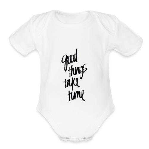 GOOD THINGS phonecase - Organic Short Sleeve Baby Bodysuit