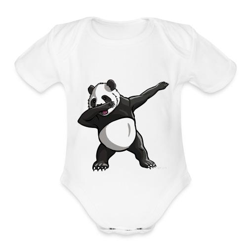 Dabbing panda - Organic Short Sleeve Baby Bodysuit