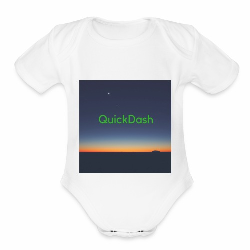 QuickDash Merch - Organic Short Sleeve Baby Bodysuit