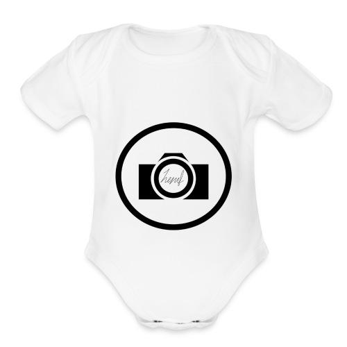 Henri Fichet logo - Organic Short Sleeve Baby Bodysuit