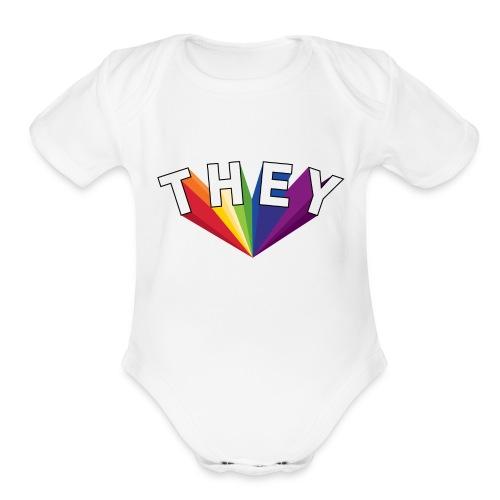 They | LGBT Pride 2018 - Organic Short Sleeve Baby Bodysuit