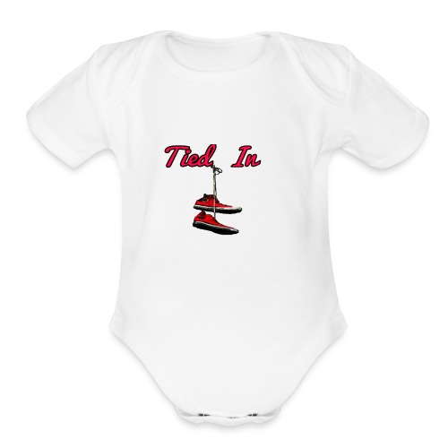 Tied In Shirts - Organic Short Sleeve Baby Bodysuit