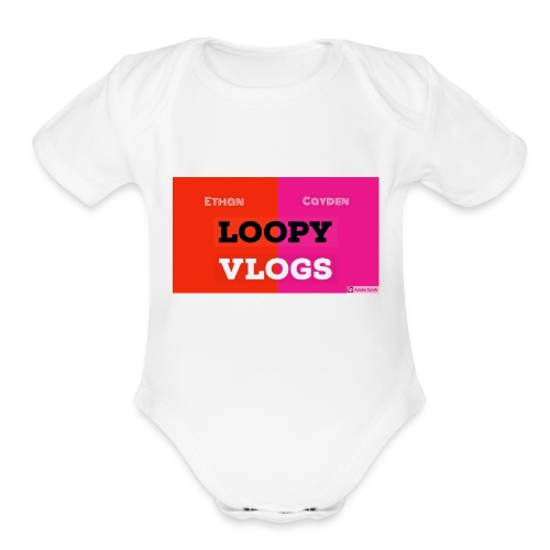 Loopy Vlogs Merch Line #1 - Organic Short Sleeve Baby Bodysuit