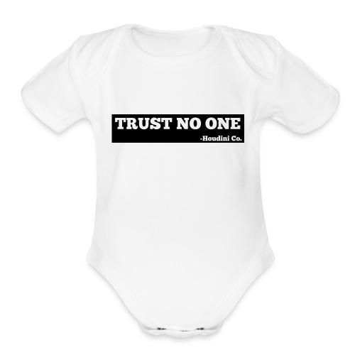 Trust No One - Organic Short Sleeve Baby Bodysuit