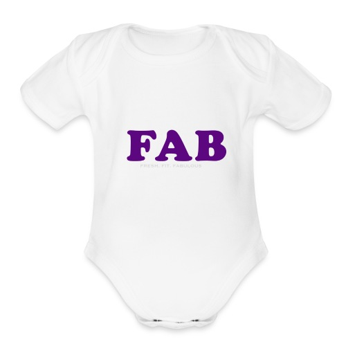 FAB Tank - Organic Short Sleeve Baby Bodysuit