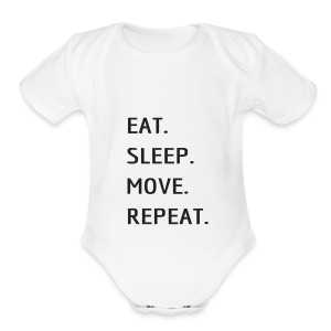 Eat Sleep MOVE - Short Sleeve Baby Bodysuit