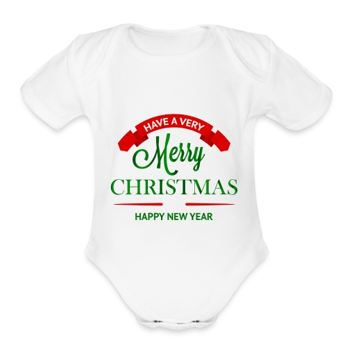 Have a Merry Christmas Decoration PNG Clipart 28 - Organic Short Sleeve Baby Bodysuit