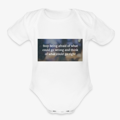 30 Motivational Quotes To Overcome The Challenges - Organic Short Sleeve Baby Bodysuit