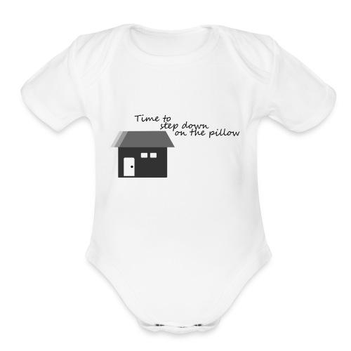 Sleep / Night - Organic Short Sleeve Baby Bodysuit