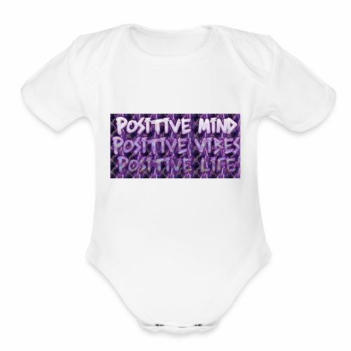 Positive - Organic Short Sleeve Baby Bodysuit