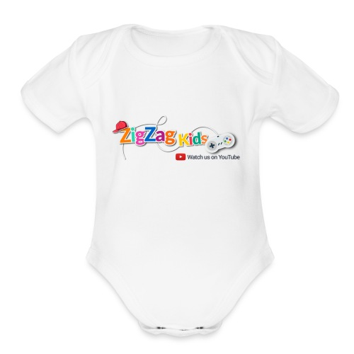 ZigZag Kids Logo Shop - Organic Short Sleeve Baby Bodysuit