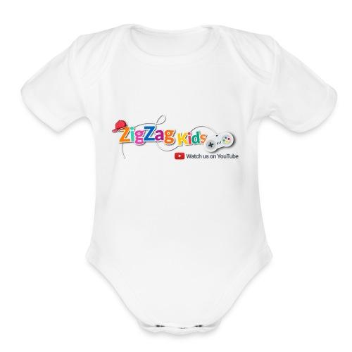 ZigZag Kids Logo Shop - Organic Short Sleeve Baby Bodysuit
