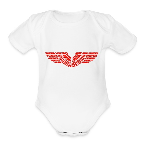 eagle - Organic Short Sleeve Baby Bodysuit