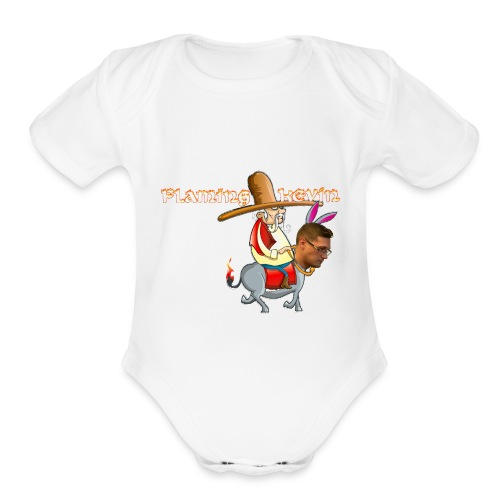Flaming Donkey - Original - Organic Short Sleeve Baby Bodysuit